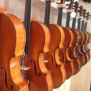 Stacked Violins