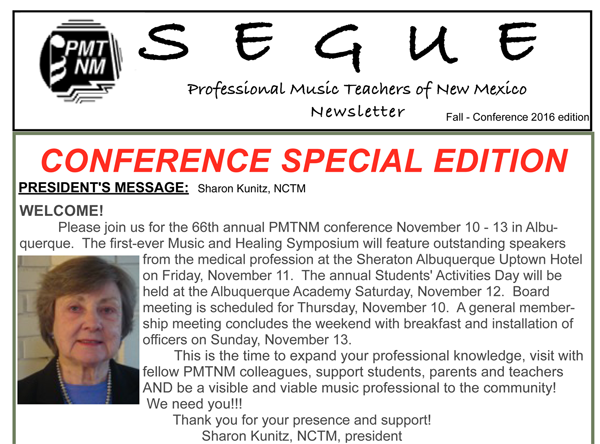 Segue Fall 2016 Conference
